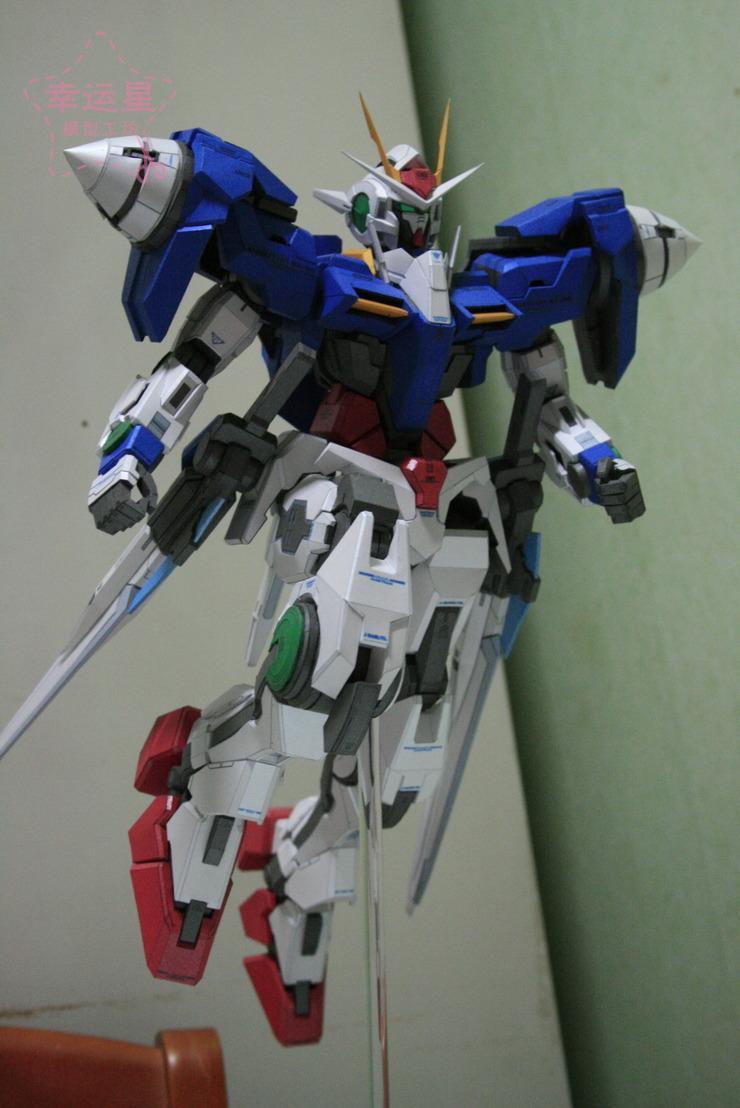 Bricolage travail manuel de la série de Gundam proportionnel positif GN-000000Raiser modèle de papier 3D Gundam