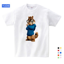 Hot Sale! New Alvin and the Chipmunks boys tops girls tops Costume Alvin Costume kids costume Cartoon  Free Shipping 3T-9T YUDIE