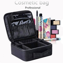 цена на Women Professional Cosmetic Case Brush Makeup Bag Travel Necessary Waterproof Cosmetic Bag Maleta De Maquiagem Profissional