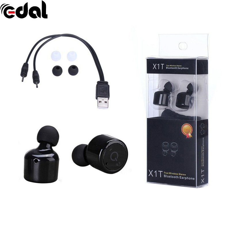 EDAL X1T Mini Twin Stero Bluetooth Earphone BT 4.0 Wireless Headphones Headset Handsfree Earpiece with Mic for iPhone Android a01 bluetooth headset v4 1 wireless headphones noise cancelling with mic handsfree earpiece for driving ios android