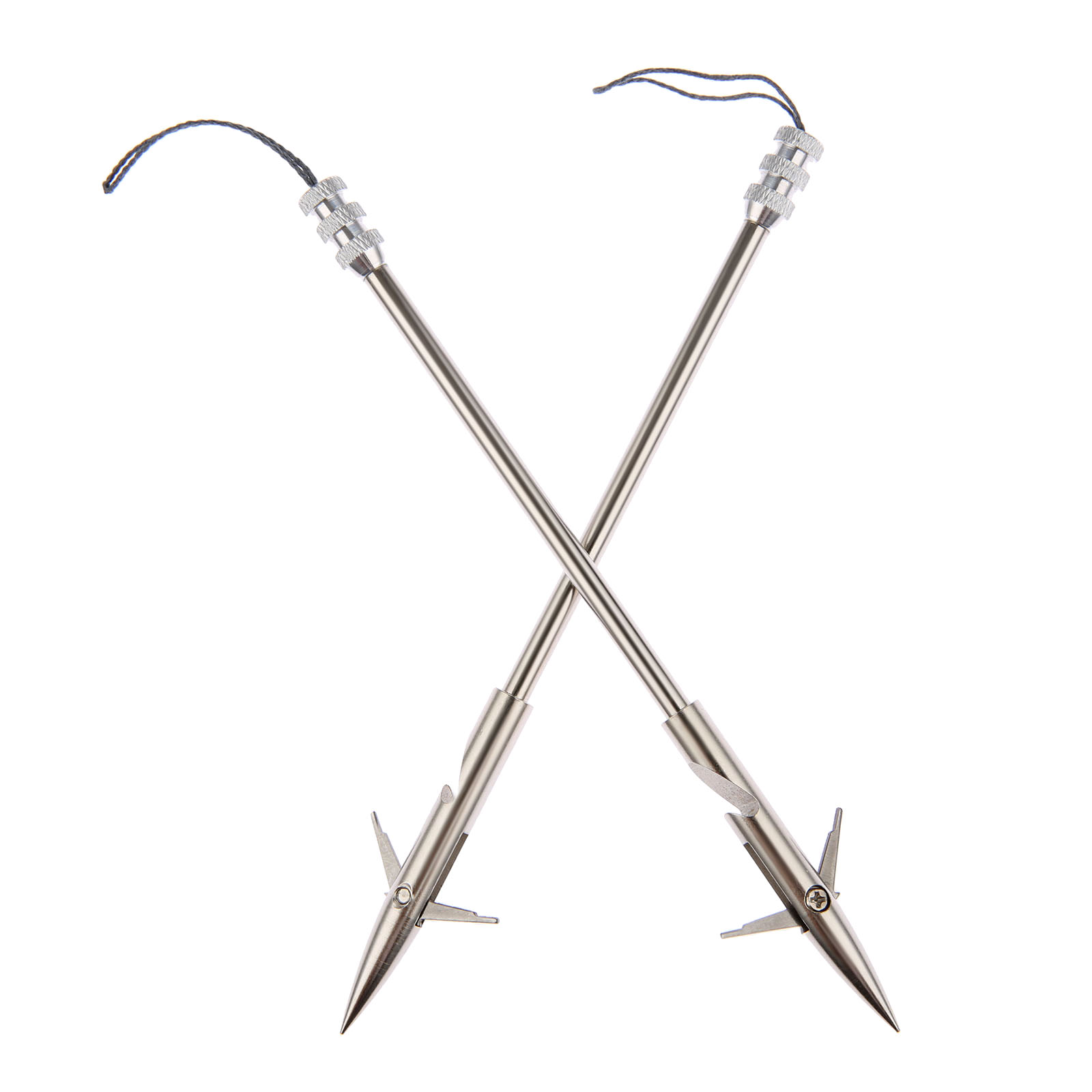 gohantee 3pcs 160mm 6 3 inch Stainless Steel Broadheads Arrowhead Bow Fishing Slingshot Arrow Hunting Shooting Catapult Dart in Bow Arrow from Sports Entertainment