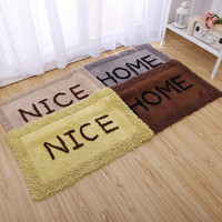 1Pcs High Grade Thicken Soft Anti skid Dustproof Chenille Water Absorption Carpet Floor Rug Living room carpet Toilet Bath Mat