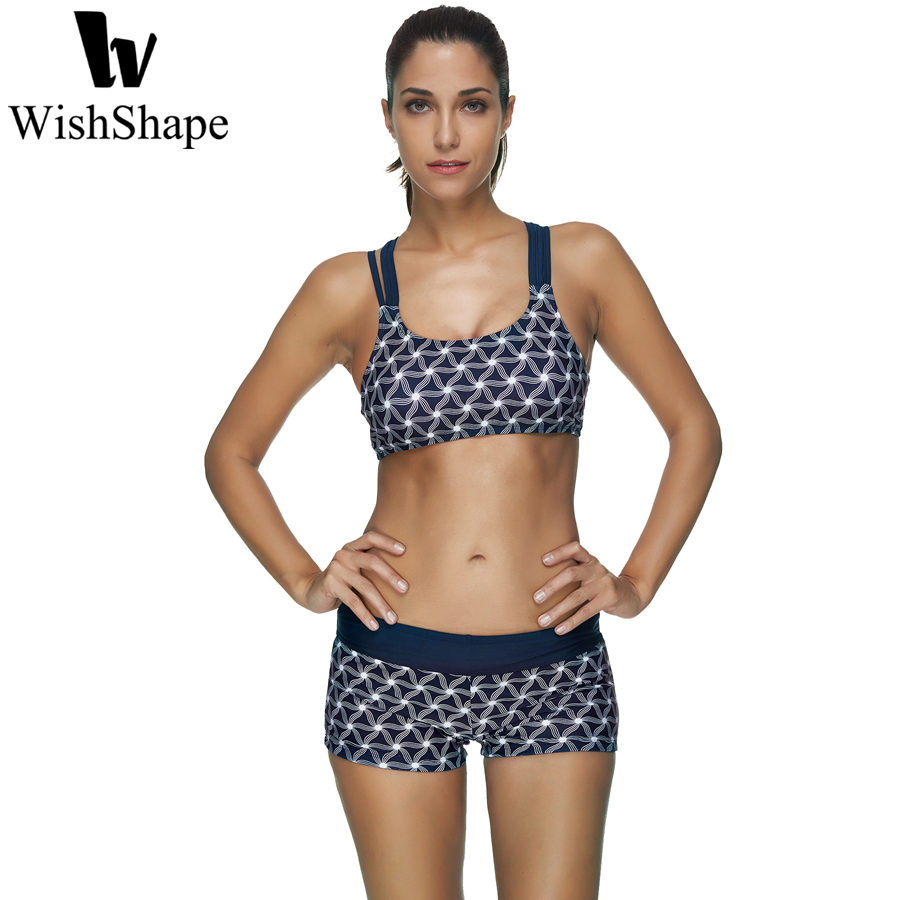 Sexy Three Pieces Crop Top Bikini Set Shorts Tankini Swimwear Women Vintage Print Swimsuit Push Up Bathing Suit Plus Size XXL XX halter print tankini set