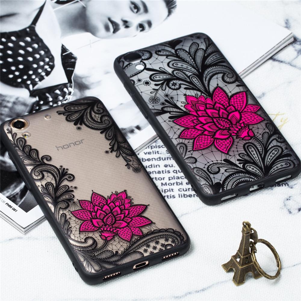 Sexy Floral Phone Case For Huawei Y6ii Novel Fashion Hard PC+TPU Back Cover For Huawei Y6 II CAM-L23 Y6ii CAM-L21/L32 Y6 2