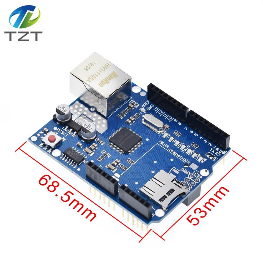 W5100 R3 Ethernet Shield LAN Board UNO R3 Mega 2560 Mega328 R3 AVR USB Cable