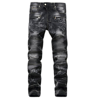 High Quality Men S Jeans Fashion Casual Brand Straight Racer Biker Jeans Men Hiphop Skinny Jeans