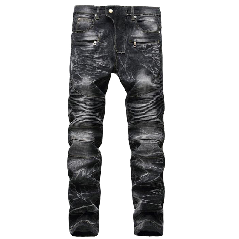 High quality men's jeans Fashion Casual Brand Straight Racer biker Jeans men Hiphop Skinny Jeans For Men New Denim Trousers 2016 new dsel brand men jeans men fashion skinny jeans men men straight fit leisure quality cotton biker jeans denim