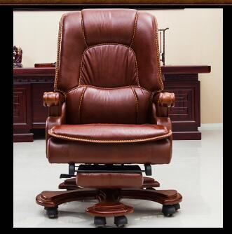 ¿Silla de ordenador? ¿La silla en casa? Silla de oficina reclinable de cuero. 20