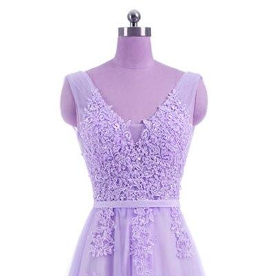 Горячая Распродажа, Коктейльные Вечерние платья, короткое, Vestido de Festa, Мини сексуальное платье с аппликацией, v-образным вырезом, бисером и жемчугом - Цвет: light purple