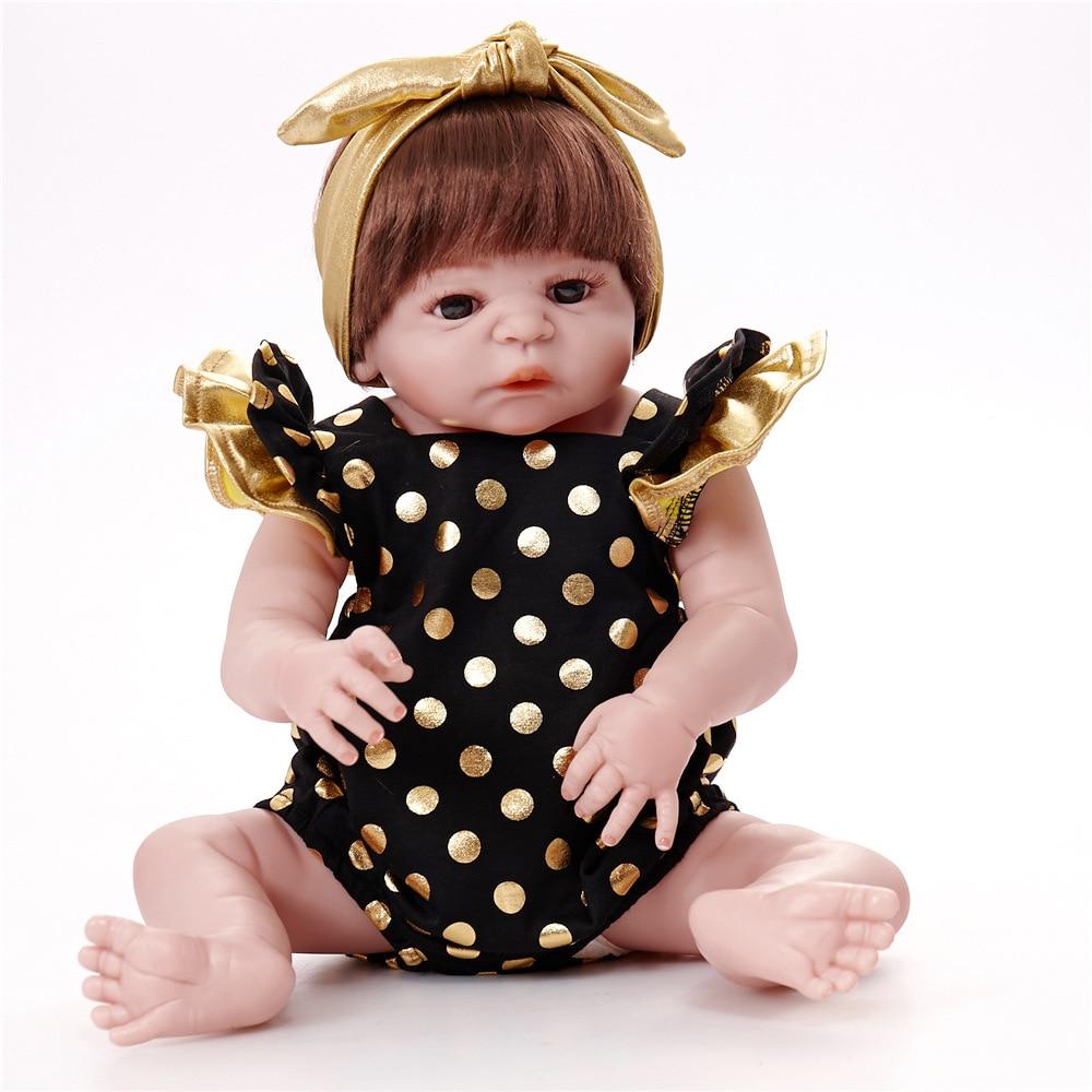 Nouveauté 55cm Silicone souple Reborn poupées bébé réaliste poupée Reborn 22 pouces pleine vinyle Boneca BeBe Reborn garçon poupée