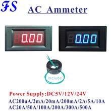 YB5135A AC LED Digital Ampere Meter AC 200uA 200mA 10A 50A 100A 200A 500A Umfassen Stromwandler AC Amperemeter Strom tester