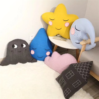 50*50CM Creative clouds elves room pillow bedroom cushions plush toys birthday gift