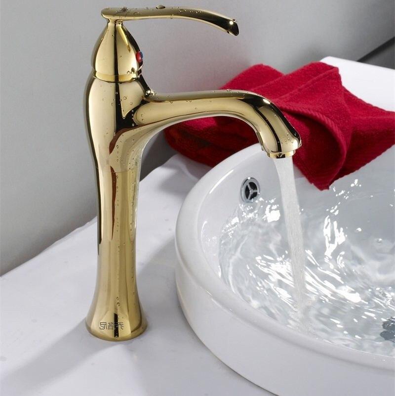 Golden faucet basin copper faucet bathroom hot and cold kitchen faucetGolden faucet basin copper faucet bathroom hot and cold kitchen faucet