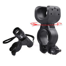 Torch Clip Mount Bicycle Front Light Bracket Flashlight Holder 360 degree Rotation  Practical Bike Accessories