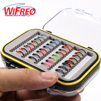 32PCS Set Assorted Nymph Fishing Fly Combo Trout Bass Blue Gill Panfish Artificial Lures With Free