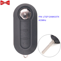 KEYECU for Fiat 500L/ 500L MPV Bravo Ducato Keyless Remote Car Key Fob 433MHz for FCC ID: LTQF12AM433TX