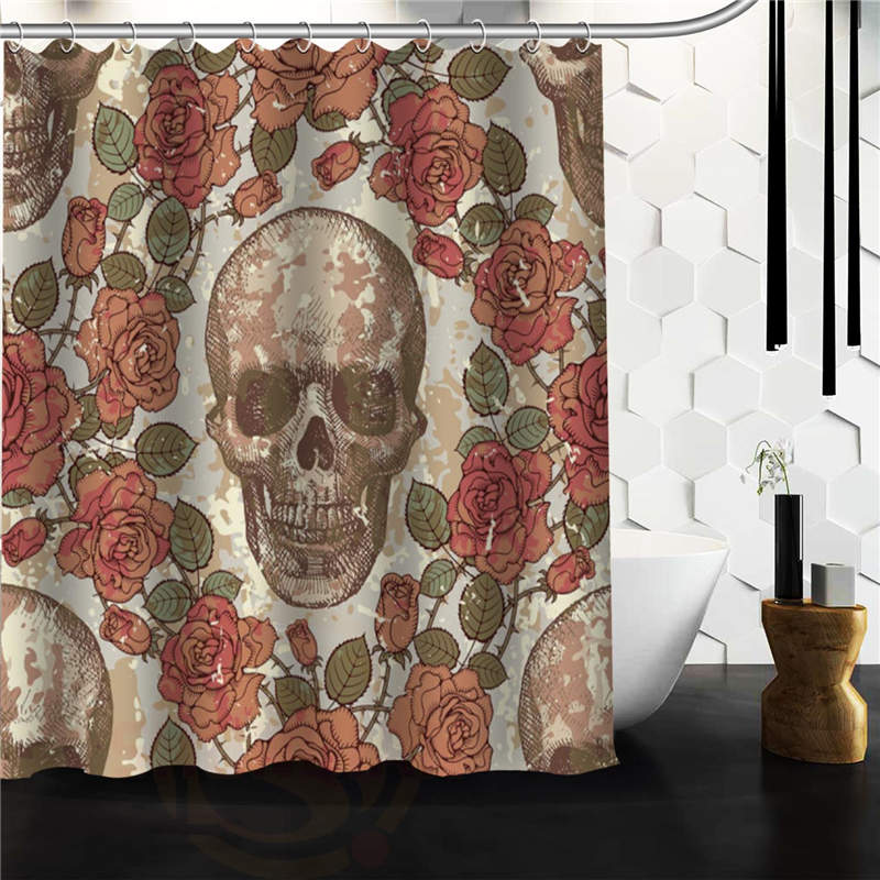 online get cheap skull shower curtain -aliexpress | alibaba group
