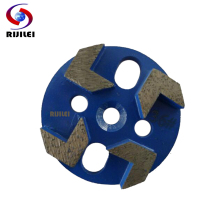 RIJILEI 3 PCS/lot Inch Magnetic Arrow Segments Diamond Grinding Disc for Concrete Floor Cup Wheel U30