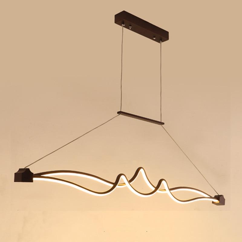 LICAN suspension Pendant Lights Led Lamp Modern Hang lamp Aluminum Remote Control Dimming Pendant lights Fixture Kitchen Modern
