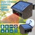 Беспроводной датчик движения на солнечных батареях  Детектор Солнечной системы сигнализации на подъездной дорожке  водонепроницаемый дат...