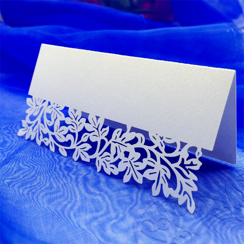 50 pcs Laser Cut Name Card Wedding Celebration Birthday Party Table Card Seats Decoration Name Table Place Card image