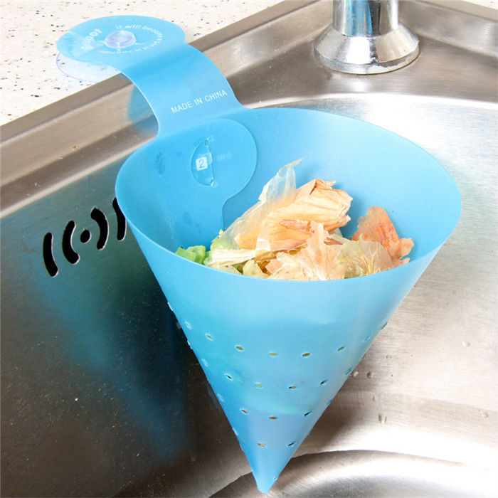 Waste Basket Triangular Funnel Shape Kitchen Strainer Basket Washing Storage Leaking Basket Disassembly Simple Colander Basket