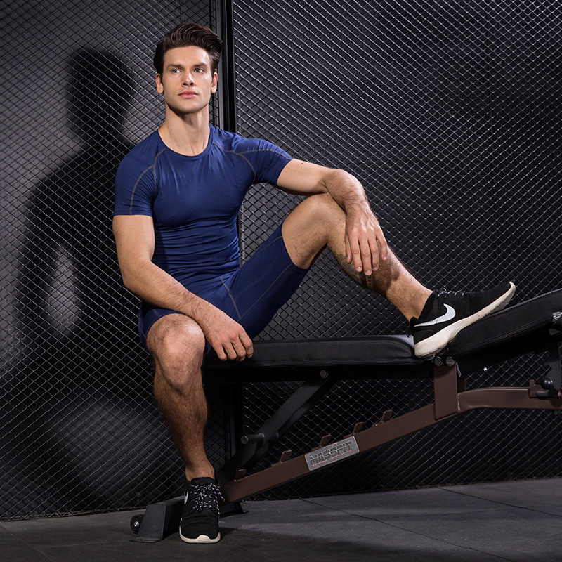 Men Body fit shirts Tight Fitness Running T shirt Men Jersey Short Sleeve Gym wear Sport Top Tee Clothing Men 39 s Sportswear in Trainning amp Exercise T shirts from Sports amp Entertainment