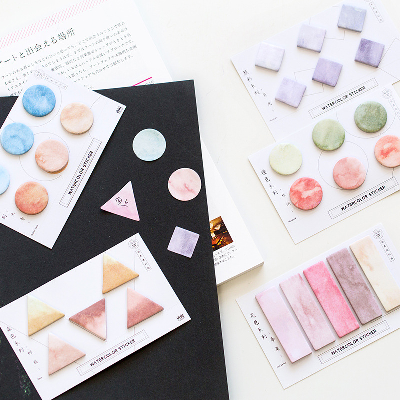 Square Round Triangle Self-Adhesive Memo Pad Sticky Notes Notepad Bookmark School Office Supply Stationery Escolar Papelaria