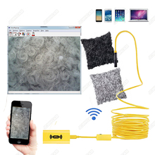 8mm 1200P HD WIFI Endoscope Camera Hard Cable 1/2/3.5/5/10M IP68 Waterproof With Adjustable Light Button 8pcs LED