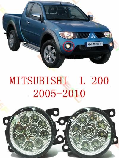 Luz antiniebla refit Luz de niebla para Mitsubishi L200 2005/06/07/08/09/10 /11/12 car styling LED Luz de niebla 1 Unidades