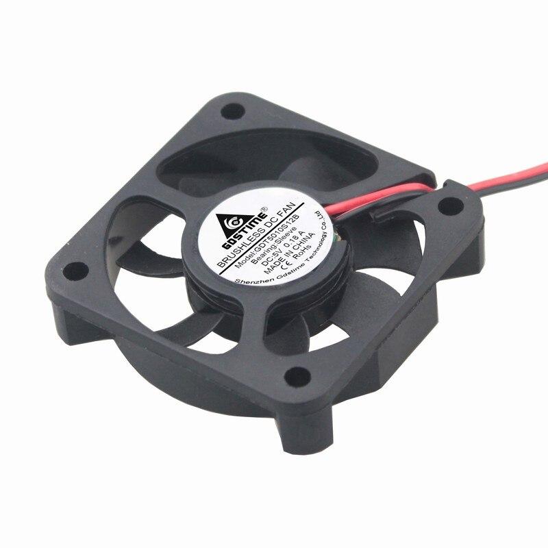 Gdstime 2PCS 50x50x10mm DC 5V 50mm x 10mm 2Pin Mini Cooler Radiator Motor Fan 5cm Cooling Fan 5010 sunon mf50101v1 q020 s99 5010 5cm 5cm 50mm 12v 1 44w 4pin pwm server inverter cooling fan