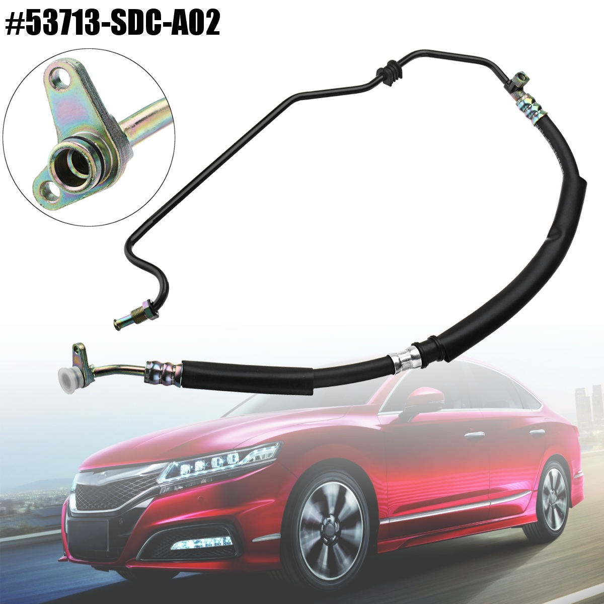 Power Steering Pressure Hose Line Assembly For Honda TSX /Accord 2.4L 2004-2008 53713-SDC-A02 53713-SDA-A52 power steering pump for honda acura rsx tsx accord cr v element 56110pnba01 215419 9319299 psp2225h 96360m 965419 56110pnb a0