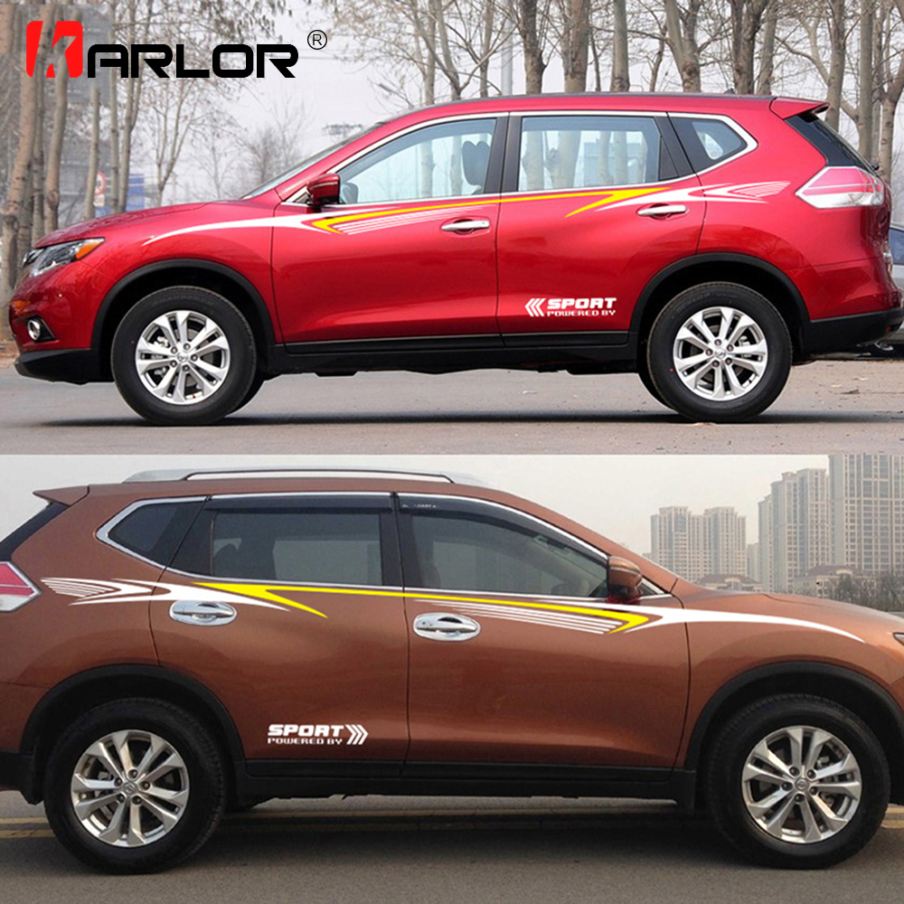 Car whole body sport stickers and decals decoration for rav4 hrv crv capitiva captur tucson tiguan duster x trail qashqai cx5