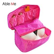 Necessaire Women Pochette Maquillage Portable Bra Underwear Cosmetic Makeup Toiletry Wash Case Girl's Travel Organizer Bag