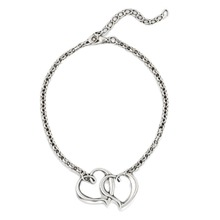 Trendy Summer Style Peach Heart Double Heart Anklet Foot Chain Charming Foot Jewelry Drop Shipping Body-0290