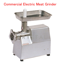 Commercial Electric Meat Grinder Stainless Steel Meat Grinding Machine Meat Mincer with English Manual TJ22A