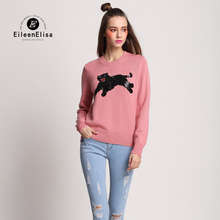 Runway Sweater 2016 Embroidery Sweater Pullovers With Leopard Women Sweater Pullovers