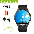 Torntisc bluetooth freqüência cardíaca gps smart watch kw88 mtk6580 quad core 1.39 polegada resolução 400*400 3g wifi smartwatch telefone