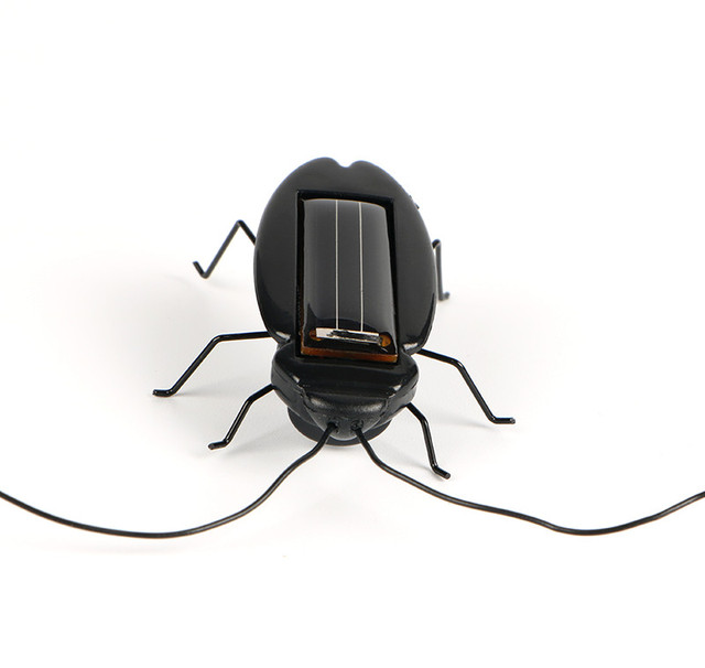 Novelty and Gag Toys Solar Power Cockroach Insect Bug Teaching Toy Gift Baby Kids Plastic Insect Solar Toy 4