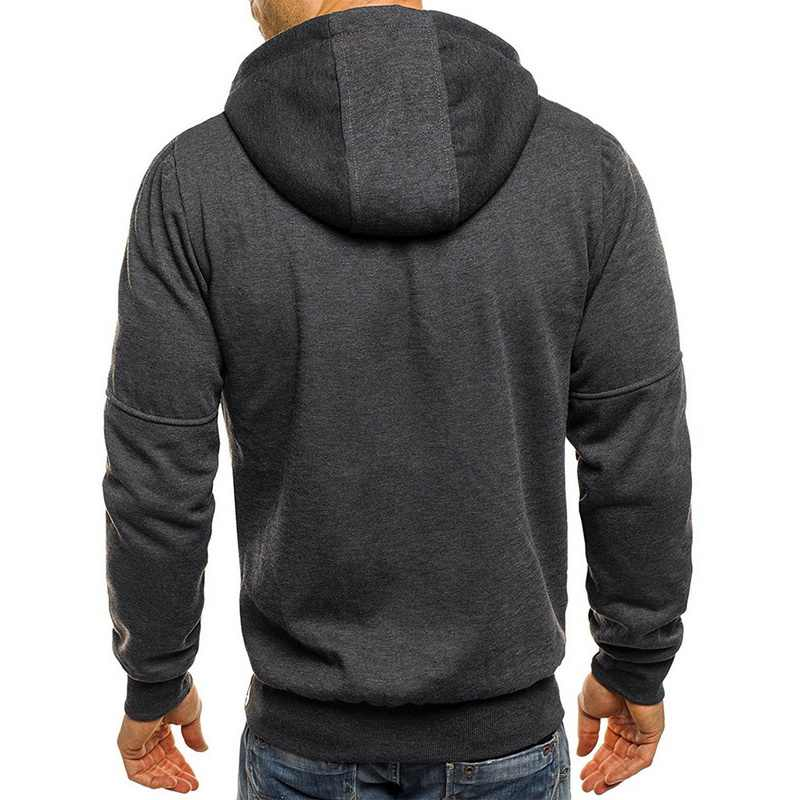 LAAMEI Hoodies Mannen 2019 Lange Mouwen Trui Hoodies Mannen Rits Sweatshirt Mannelijke Trainingspak Hip Hop Herfst Winter Truien Jas