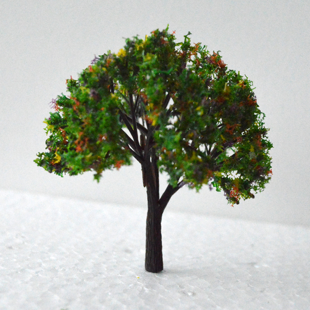 50pcs Model Colorful Trees Train Railway Scenery Layout N Scale ...