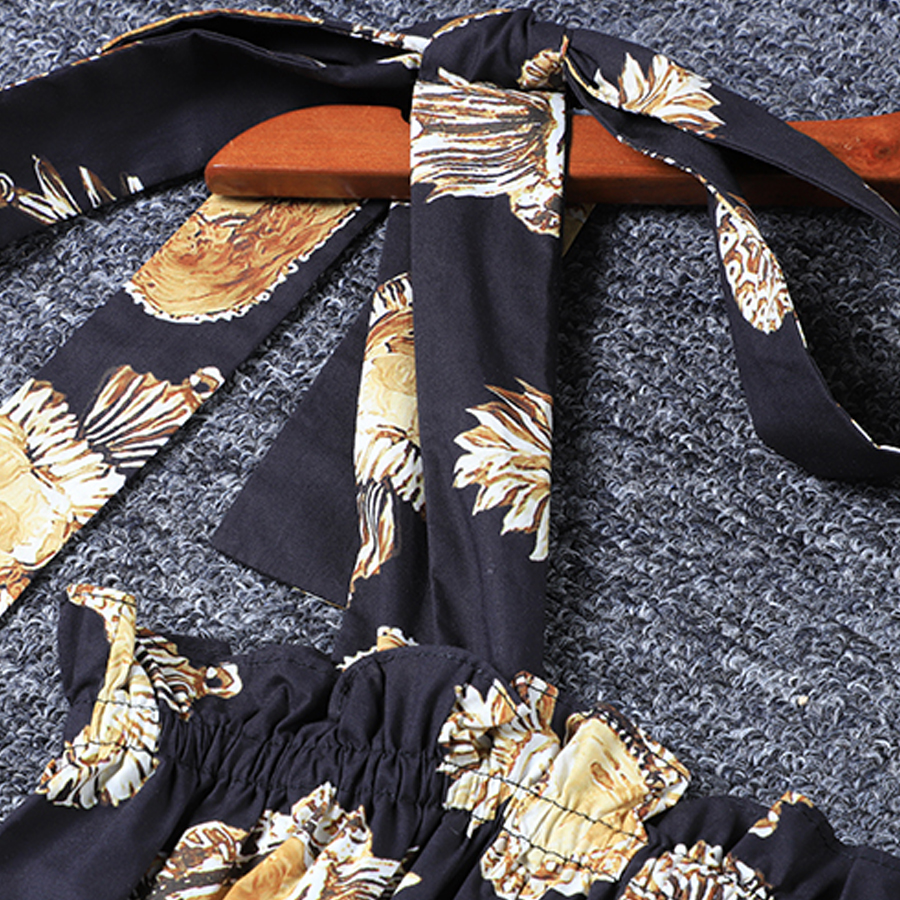 Ruches Coton 100 Gaine Robe Aeleseen Élastique Photo As D'été 2019 Courroie Taille Femmes Imprimé De Haute Qualité E8wEnRq7t