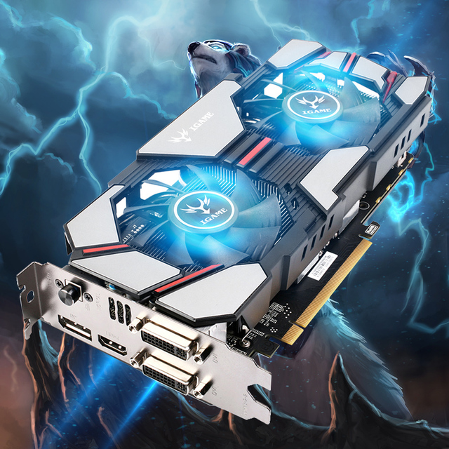 Colorido 2048 MB NVIDIA GeForce GPU GTX960 2 GB DDR5 128bit 2 * DVI + HDMI + DP Porta PCI-E X16 3.0 Placa Gráfica de Vídeo com Ventilador de Refrigeração