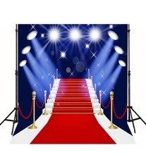 Fase Tema Hollywood Hollywood Celebridade branco iluminação estúdio de fotografia de Vinil pano de Computador impresso pano de fundo da festa Do Tapete Vermelho