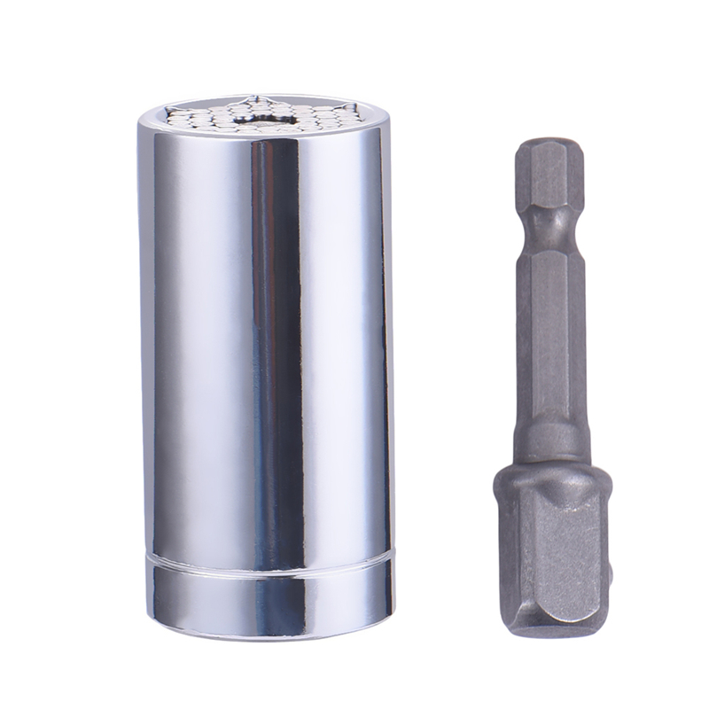 2pcs/Set Gator Socket Multi Function Ratchet Universal Socket 7-19mm Power Drill Adapter Car Hand Tools Repair Kit