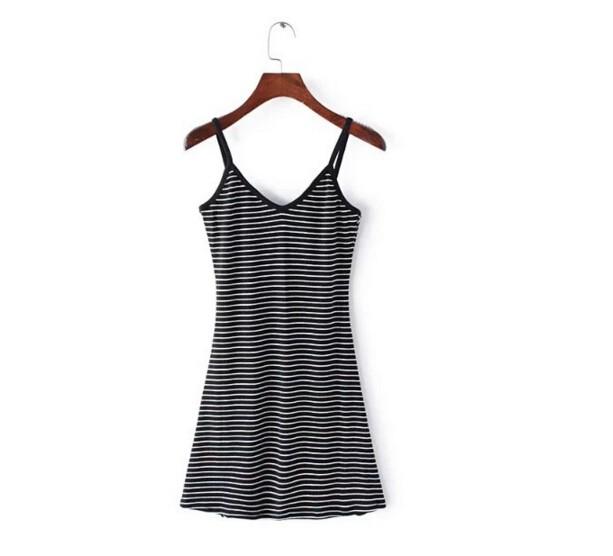 HTB1NqpCMpXXXXa0XFXXq6xXFXXXE - FREE SHIPING Sexy Backless Cross Strappy Halter Striped Dresses JKP278