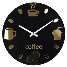 Hot Selling Wall Clocks Modern Coffee Cups Wall Watch Design Relogio De Parede Wall Watches Home Decoration Orologio Parete
