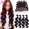 Premium Peruvian Virgin Hair Body Wave With 13x4 Lace Frontal Closure With Bundles 4pcs Human Hair Bundles With Frontal Closure