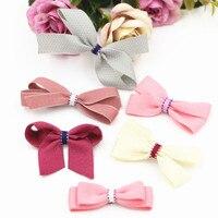 New Arrival Handmade Fabric Ribbon Knot Bow Craft 40PCs 10Pcs DIY Jewelry Accessories Material Headband Hair Clips Garment Decor