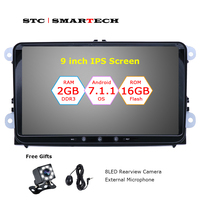 SMARTECH 2 Din Android 7 1 OS Car GPS Navigation Head Unit For VW Volkswagen Passat